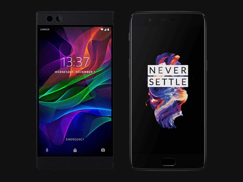 Which on is best Razer phone or Oneplus 5t, Which is better Razer phone or Oneplus 5t, Review of razer phone, Review of Oneplus 5t