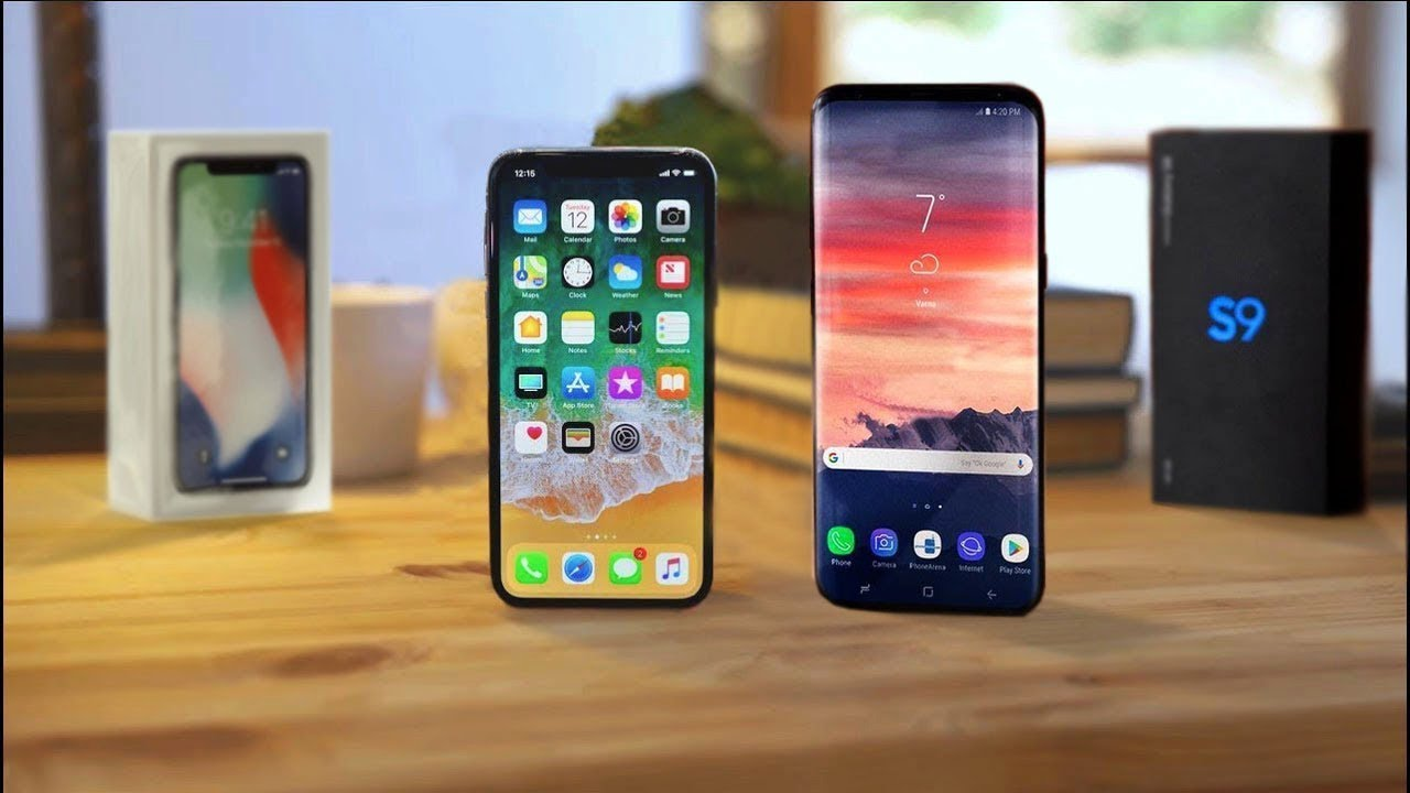 Comparison of Samsung Galaxy S9 Plus and iPhone X, Samsung Galaxy S9 Plus, iPhone X, Samsung Galaxy S9 Plus and iPhone X