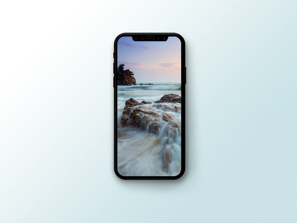 Vectorized iPhone X with shadow mockup 1